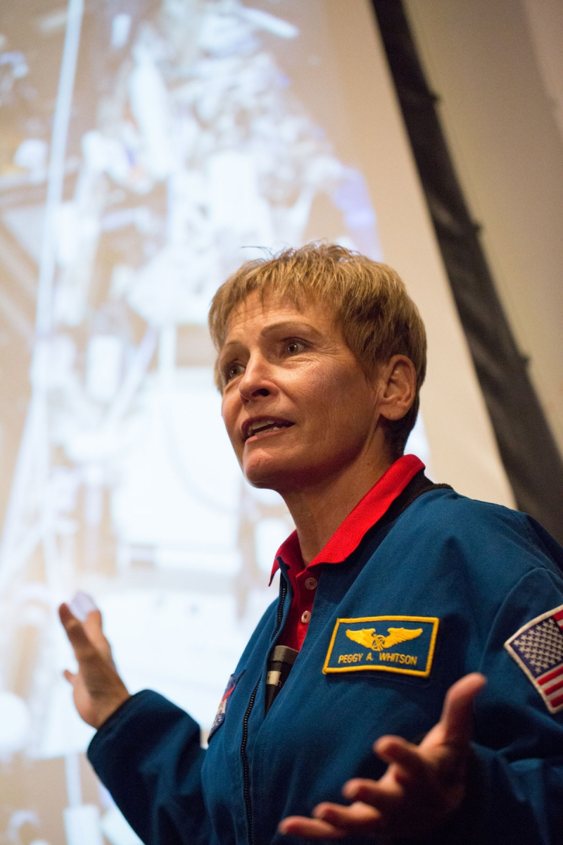 Peggy Whitson, the first woman to command the International Space Station, has spent more days in space than any other American astronaut