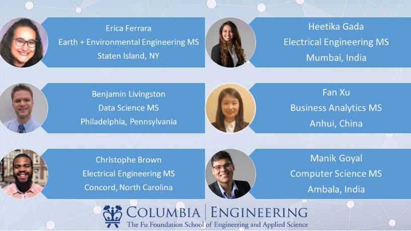 Columbia Engineering graduate student panelist
